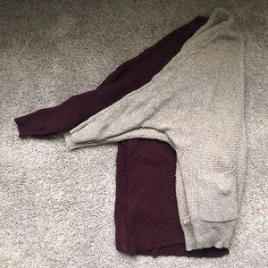 Tan and Burgundy Thick Knit Cardigan Bundle